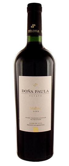 Dona Paula Estate Malbec 2010-Argentina, South America