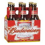 Budweiser 12OZ - 6PACK BOTTLES