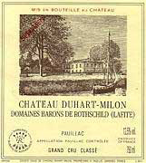 Chateau Duhart-Milon-Rothschild 2005- Pauillac, Bordeaux, France