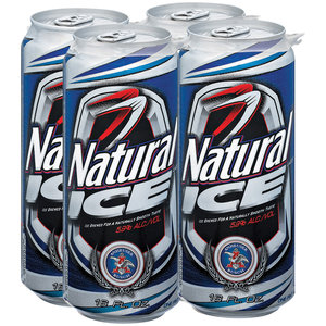 Natural Light / ICE - 16OZ CANS-4PACK