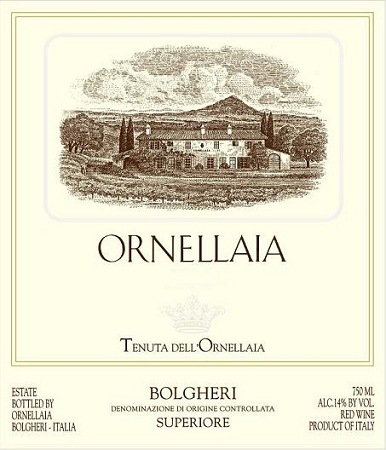 Ornellaia 2011 -Bordeaux Red Blends from Tuscany, Italy